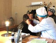 Врачи ЦРБ на диспансеризации в селе Арчиб
